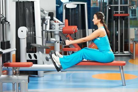 woman at training gym