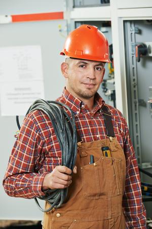 electrician engineer worker Reklamní fotografie