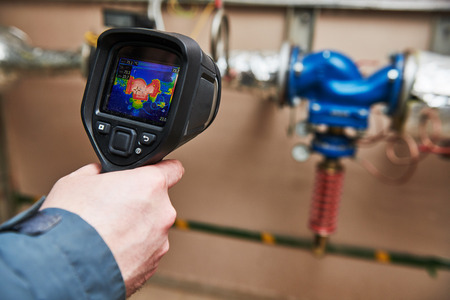 thermal imaging inspection of heating equipment Standard-Bild - 118735534