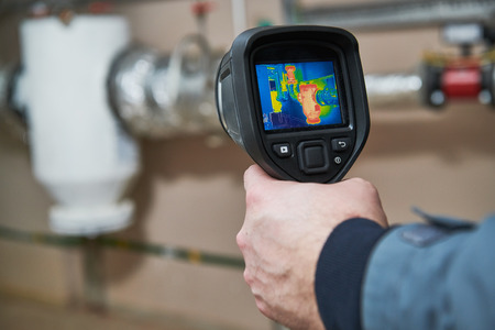 thermal imaging inspection of heating equipment Stock Photo - 118736258