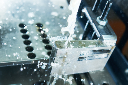 Electrical discharge machine. Precision metal processing by spark wire eroding Imagens