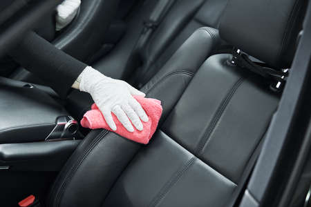 automobile detailing service. Car interior cleaning