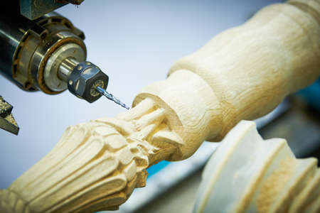 Woodwork with cnc machine.