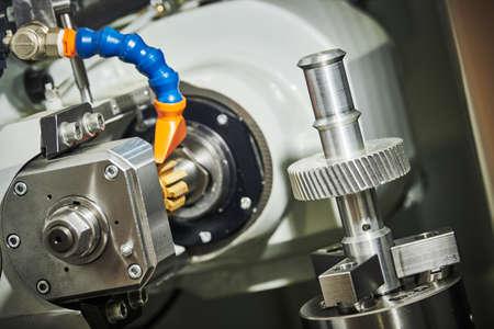 metalworking gear wheel machining with hob on CNC machine