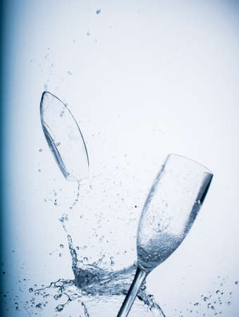 rupture: Air dancing cups Stock Photo