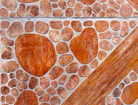 overbuilding: Muro di pietra rossa come sfondo