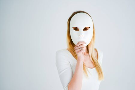 girl the theater mask communication security