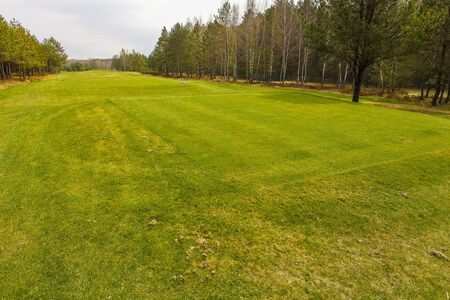 Golf course panoramas and infrastructure