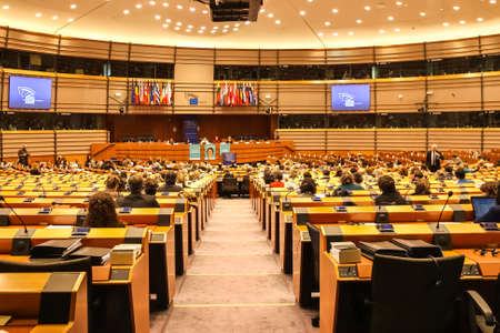 Conference room of the European Parliament, Brussels, Belgium - 02 Mar 2011