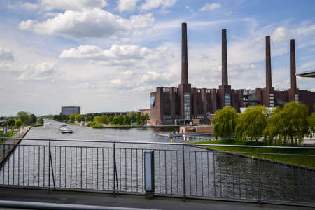 View to old Volkswagen Factory.Wolfsburg, Germany, May 19 2016