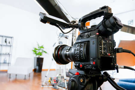 Professional cameras for recording video and photos, a professional studio equipment.