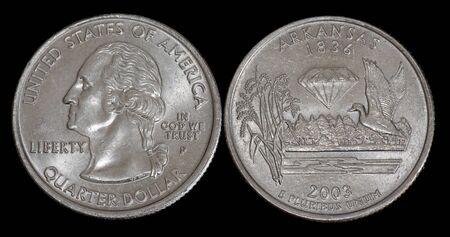 Quarter dollar from Arkansas