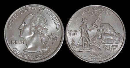 Quarter dollar from California Banco de Imagens