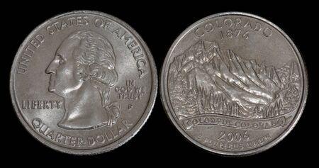 Quarter dollar from Colorado