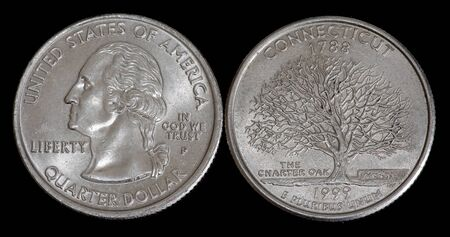Quarter dollar from Connecticut