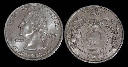 Quarter dollar from Georgia Banco de Imagens