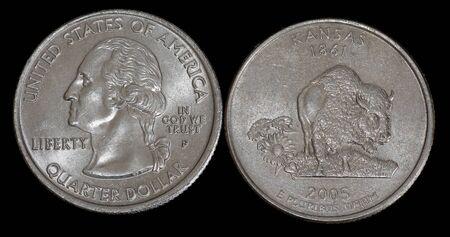 Quarter dollar from Kansas Banco de Imagens