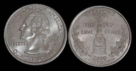 Quarter dollar from Maryland