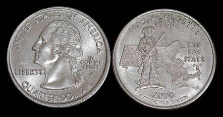 Quarter dollar from Massachusetts