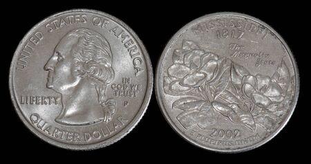 Quarter dollar from Mississippi