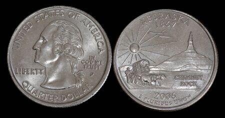 Quarter dollar from Nebraska Banco de Imagens