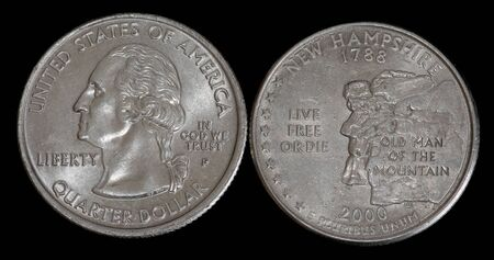 Quarter dollar from New Hampshire