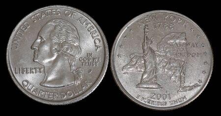 Quarter dollar from New York Banco de Imagens