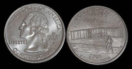 Quarter dollar from North Carolina