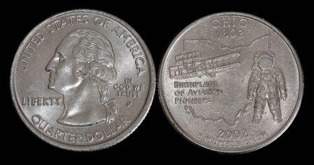 Quarter dollar from Ohio Banco de Imagens