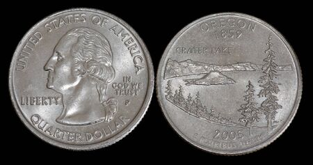 Quarter dollar from Oregon
