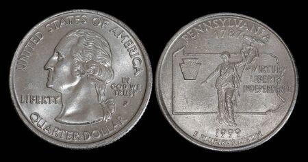 Quarter dollar from Pennsylvania