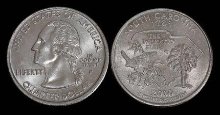 Quarter dollar from South Carolina Banco de Imagens