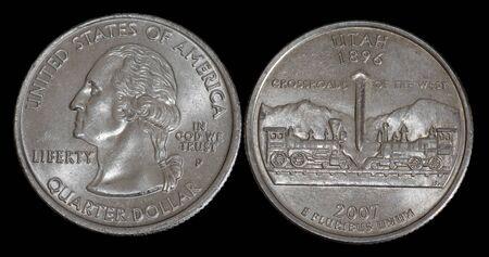Quarter dollar from Utah Banco de Imagens
