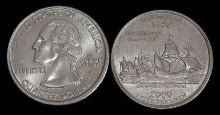 Quarter dollar from Virginia Banco de Imagens