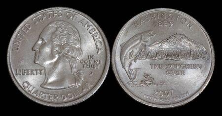 Quarter dollar from Washington
