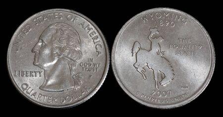 Quarter dollar from Wyoming