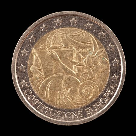Commemorative euro coin from Italy