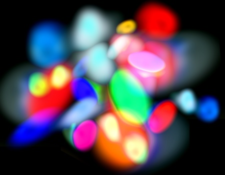 Color light spots background