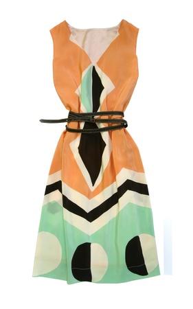 Silk dress isolated on white Stock Photo