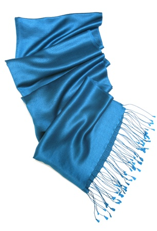 Blue scarf isolated on white