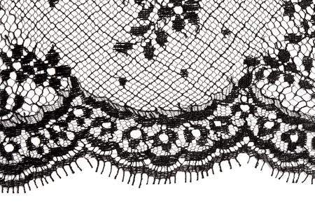 black lace: Macro lace texture.