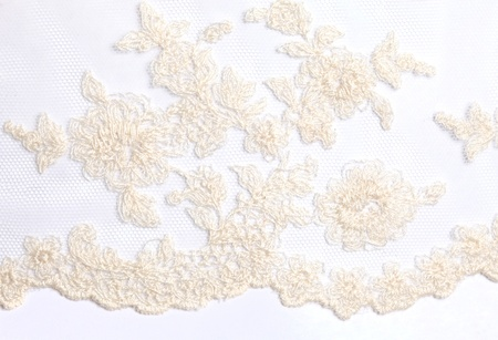White lace macro background texture