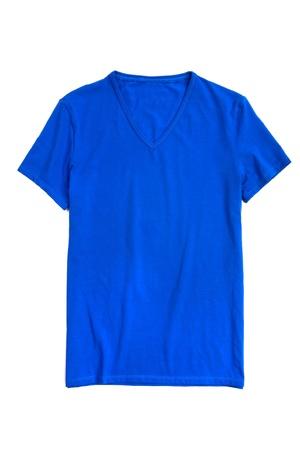 blue t-shirt on white background