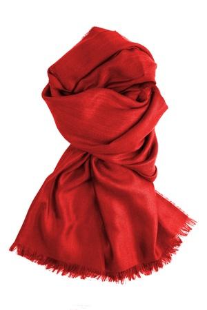 흰색에 고립 된 빨간색 스카프 스톡 사진