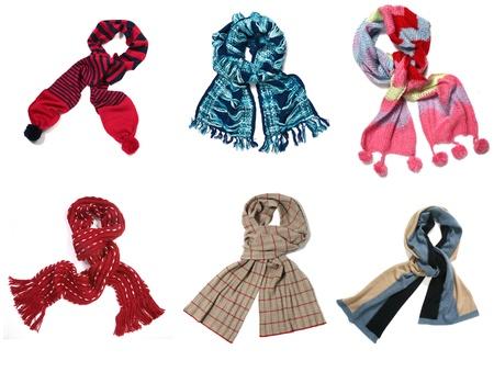 Set of color scarves