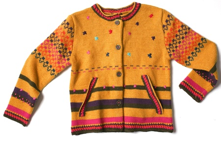 kid knit jacket Stock Photo