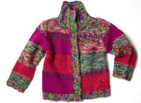 kid knit jacket Stock Photo