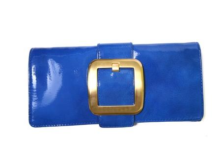 블루 럭셔리 핸드백 스톡 사진