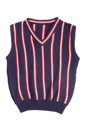 vest: Children knitted vest Stock Photo