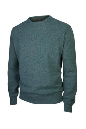 럭셔리 남자 스웨터에 흰색을 격리
